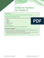 Teaching Notes Prac 6