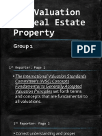 The Valuation of Real Estate Property