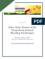 21 Lesson12-Transformational Healing Technique