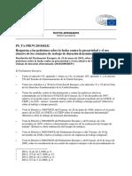 Respuesta Parlamento Europeo Sobre Contratos de Trabajo de Duracion Determinada
