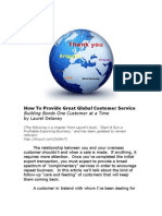 How To Provide Great Global Customer Service