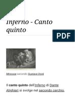 Inferno - Canto Quinto
