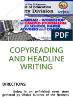 Copyreaditing & Headline Writing