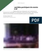 Políticos de 16 Partidos Participam Do Evento 'Direitos Já!' Em SP _ São Paulo _ G1
