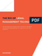 Mitratech Whitepaper - ROI of Legal Management Tech