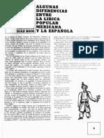 Lírica Popular Mexicana y La Española