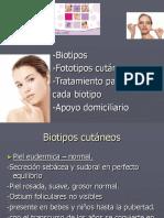 biotipos cutaneos-  fototipos - tratmientos - Cosmetologia.ppt