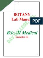 Bsc botany lab