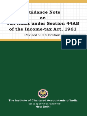 Tax Audit Gn Pdf Taxes Government