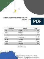 Bahasa Arab Nama-Nama Hari Dan Artinya
