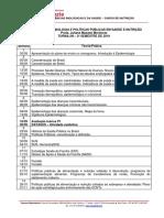 Epidemiologia e Politicas Publicas Em Saude e Nutricao - Cronograma 2019-2
