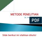 2.Jenis-jenis Metode Penelitian