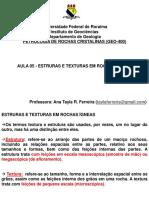 AULA 05   ESTRUTURAS E TEXTURAS PETROLOGIA ÍGNEA.pptx