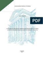 Tese de Doutorado_A Pesquisa Em Processos Formativos de Professores Do Campo - A Licenciatura Em Educação Do Campo Na UNIOESTE (2010-2014)