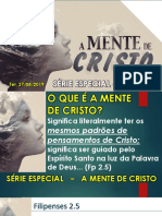 A MENTE DE CRISTO