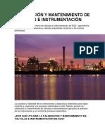 CALIBRACIÓN Y MANTENIMIENTO DE VÁLVULAS E INSTRUMENTACIÓN.docx