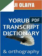 Yoruba Transcript Dictionary Deji Olaiya (1)