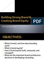 Building Strong Brands and Creating Brand Equity