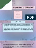 Integración Del Personal en La Empresa Charla