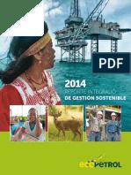 Reporte Integrado Ecopetrol 2014