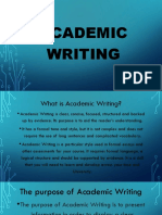 Academic Writing Presentation