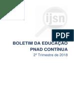 Boletim PNAD Continua Educacao-2Tri 2018