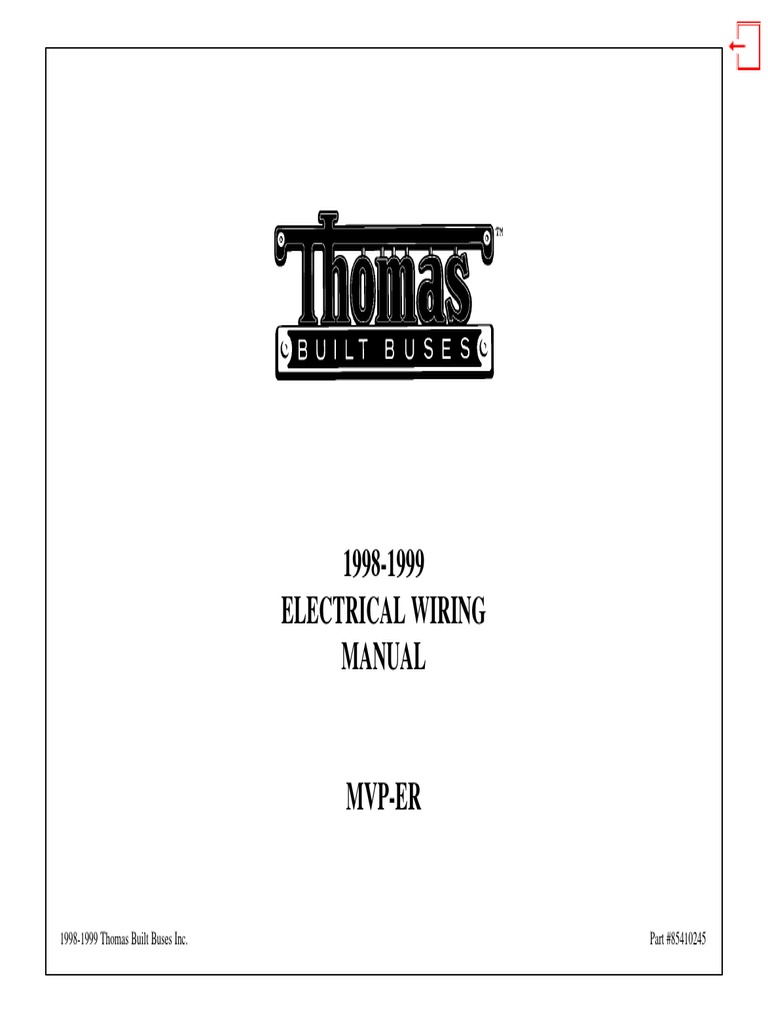 1998-1999 Electrical Wiring Manual: 1998-1999 Thomas Built