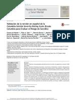 Columbia-Suicide Severity Rating Scale Versión Español