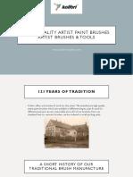 High Quality Artist Paint Brushes | Artist Brushes & Tools – Kolibri