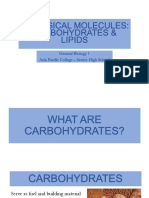 Carbohydrates and lipid