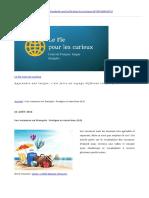 Les Vacances en Français