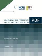 2016 FPI Study External Perceptions of the EU Executive Summary