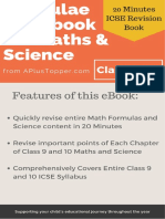 Formulae Handbook for ICSE Class 9 and 10 Maths and Science