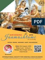 Shri Krishna Janmashtami 2019 - Poster