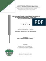 AUTOMATIZACION DEL PROCESO DE TRATAMIENTO DE AGUAS PLUVIALES POR EL METODO DE ELECTROCOAGULACION.pdf