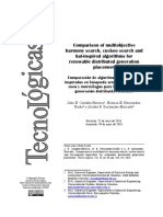 2. Comparison of Multiobjective Harmony Search Cuckoo Search and Bat Inspired Algorithms for Renewable Distributed Generation Placement