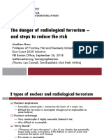 The Danger of Radiological Terrorism and Steps to Reduce the Risk