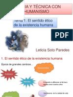 Tema 1 El Sentido Ético de La Existencia Humana