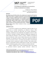 Panorama Da Economia Do Audiovisual e Da Política Cultural Na Região Sul Da Bahia