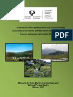 Evaluación hidro -sedimentaria y de contaminantes asociados en la cuenca del Oka
