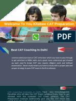 Best CAT Coaching In Delhi | Kitabee CAT CAT preparation