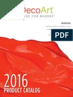 DecoArt 2016 Product Catalog