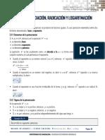 Unidad 2_potenciación, Radicación y Logaritmación