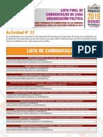 candidatos bolivia 2019
