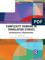 Complexity Thinking in Translation Studies