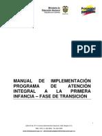 Manual de Implementación Programa de Atención Integral a La Primera Infancia Fase de Transición
