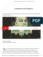 How Viktor Orban Hollowed Out Hungary's Democracy - The Entanglement of Powers