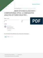 The Development of Duke Ellingtons Compositional Style- A Compar