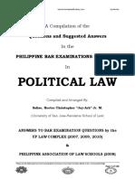 Political Law Bar Q & A