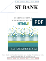 Test Bank Web Development and Design Foundations With Html5 8th Edition by Felke Morris
